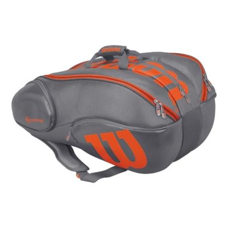 Wilson Vancouver 15 Tennis Backpack in Grey/Orange