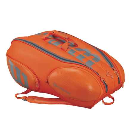 Wilson Vancouver 15 Tennis Backpack in Orange/Grey - Closeouts
