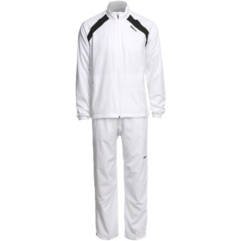 Wilson Woven Warm-Ups - UPF 30+, Two-Piece Set (For Men) in White/Black
