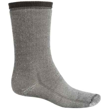Wind River Mountaineer Hiking Socks - Merino Wool, Crew (For Men) in Grey - 2nds