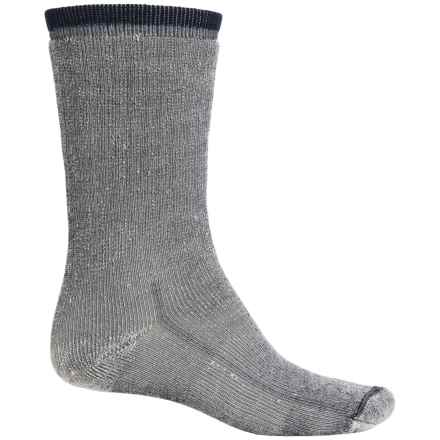 Wind River Mountaineer Hiking Socks - Merino Wool, Crew (For Men) in Navy - 2nds