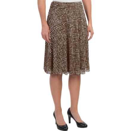 Windward Nylon Mesh Knit Skirt (For Women) in Brown/White - 2nds