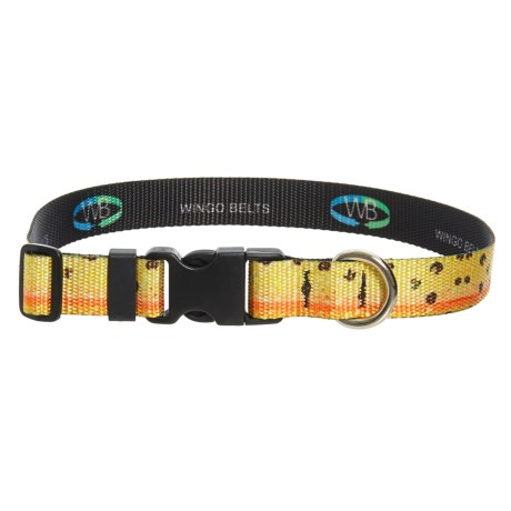 """Wingo Artisan Dog Collar - Adjusts up to 26"""" in Cutthroat"""