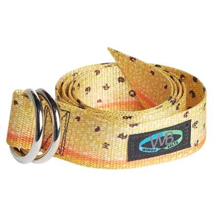 "Wingo Artisan Everyday D-Ring Belt - Adjusts to 44"" in Cutthroat Trout - Overstock"