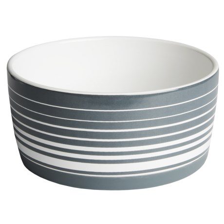 Winifred & Lily Ceramic Graphic Dog Bowl in Stripe