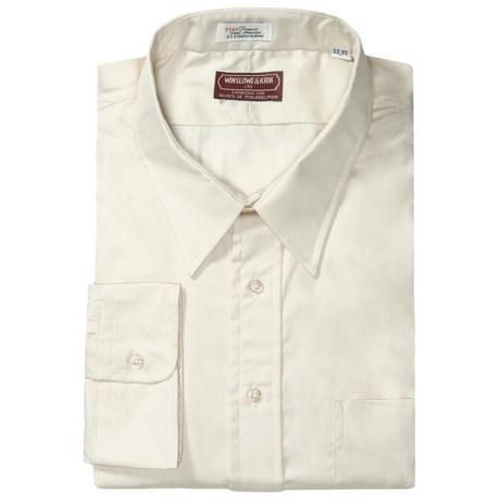 Winslowe & Krik by Gitman Brothers Cotton Pinpoint Oxford Dress Shirt - Long Sleeve (For Big & Tall Men) in Ecru
