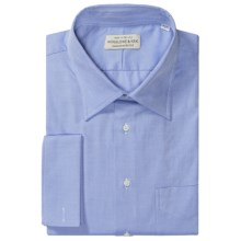 Winslowe & Krik by Gitman Brothers French Cuff Dress Shirt - Spread Collar, Long Sleeve (For Big & Tall Men) in Blue Angle Stripe - Closeouts