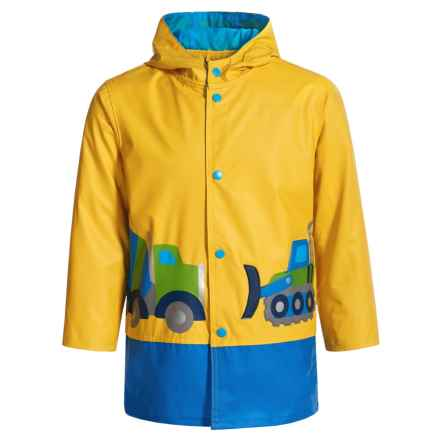 Wippette Construction Hooded Raincoat (For Toddler Boys) in Yellow - Closeouts