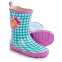 Wippette Rain Boots - Waterproof (For Little Girls) in Blue/Butterfly - Closeouts