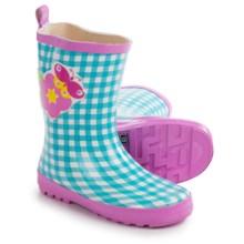 Wippette Rain Boots - Waterproof (For Little Girls) in Blue/Butterfly - Closeouts