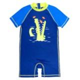 Wippette Shark Swimsuit - UPF 50, Short Sleeve (For Infant Boys)