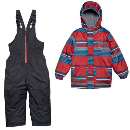 Wippette Striped Two-Piece Snowsuit Set - Insulated (For Toddler Boys) in Red - Closeouts
