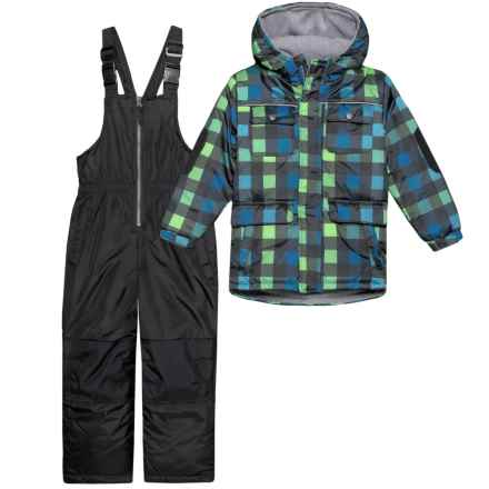 Wippette Vibrant Plaid Two-Piece Snowsuit Set - Insulated (For Little Boys) in Black - Closeouts