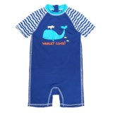 Wippette Whale Swimsuit - UPF 50, Short Sleeve (For Infant Boys)