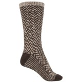 Wise Blend Chevron Socks - Crew (For Women)