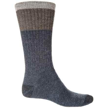WISE BLEND Merino Wool Blend Socks - Crew (For Men) in Denim - Closeouts