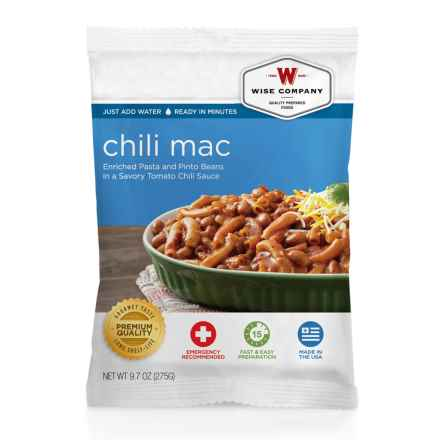 Wise Company Chili Mac - 4 Servings in See Photo - Closeouts