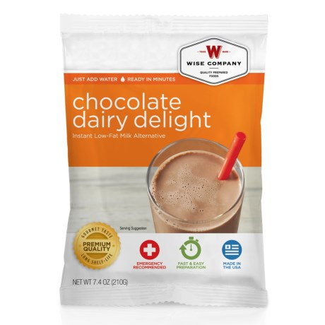 Wise Company Chocolate Dairy Delight Instant Milk Alternative in See Photo