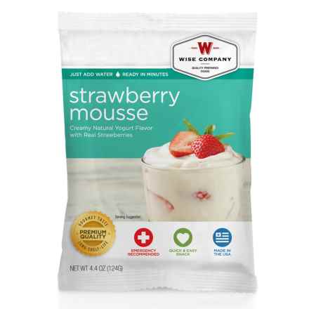 Wise Company Dessert Dish Strawberry Mousse - 4 Servings in See Photo - Closeouts