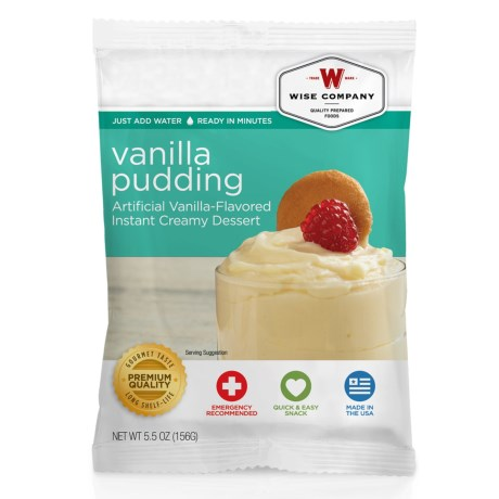 Wise Company Dessert Dish Vanilla Pudding - 4 Servings in See Photo