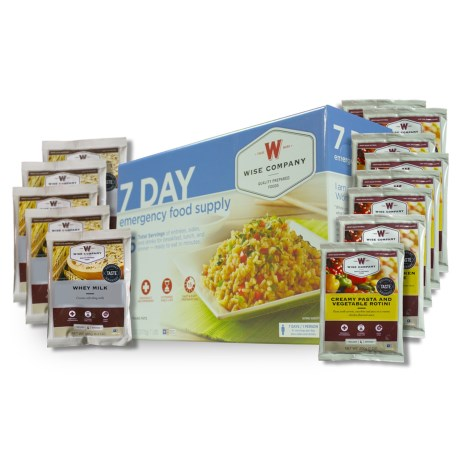 Wise Company Emergency Food Supply - 7-Day in See Photo