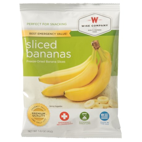 Wise Company Freeze-Dried Sliced Bananas in See Photo