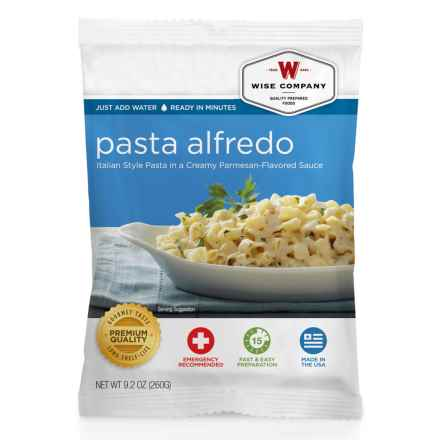 Wise Company Pasta Alfredo - 4 Servings in See Photo - Closeouts