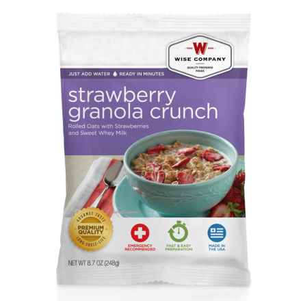 Wise Company Strawberry Granola Crunch - 4 Servings in See Photo - Closeouts