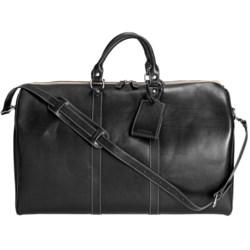 Wisecracker Compton Weekend Bag - Leather in Tan