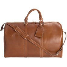 Wisecracker Compton Weekend Bag - Leather in Tan - Closeouts