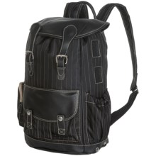 Wisecracker Royal Army Rucksack - Leather Trim in Black/Black - Closeouts