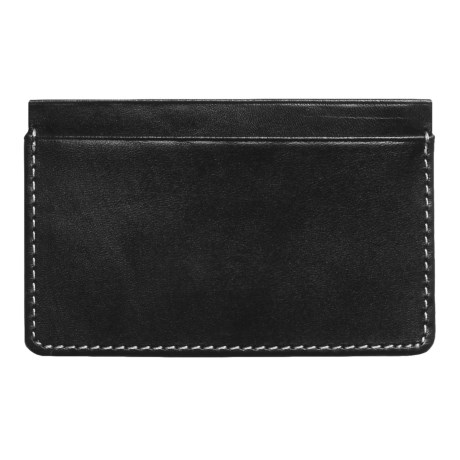 Wisecracker The Covington Card and Cash Slip Wallet - Leather in Black