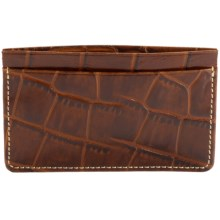 Wisecracker The Covington Card and Cash Slip Wallet - Leather in Italian Moc Croc - Closeouts