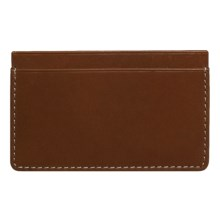 Wisecracker The Covington Card and Cash Slip Wallet - Leather in Tan - Closeouts