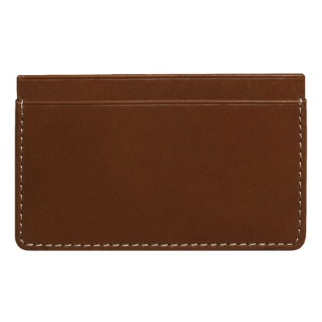 Wisecracker The Covington Card and Cash Slip Wallet - Leather in Tan