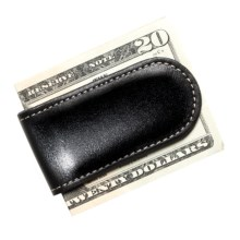 Wisecracker The Junior Money Clip - Leather in Black - Closeouts