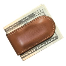 Wisecracker The Junior Money Clip - Leather in Tan - Closeouts