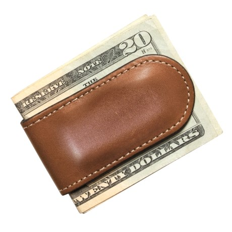 Wisecracker The Junior Money Clip - Leather in Tan