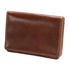Wisecracker The Pocket Flip Wallet - Leather in British Tan Florentine - Closeouts