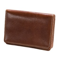 Wisecracker The Pocket Flip Wallet - Leather in British Tan Florentine