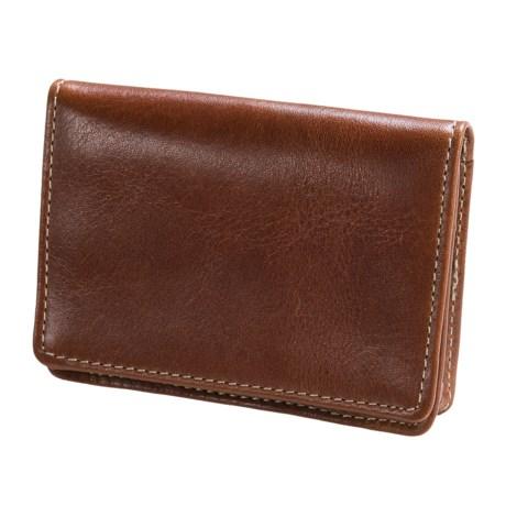 Wisecracker The Pocket Flip Wallet - Leather in British Tan Florentine