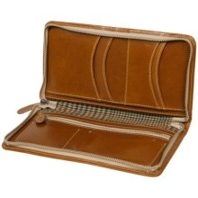 Wisecracker Zip Travel Organizer - Leather in British Tan Harness - Closeouts