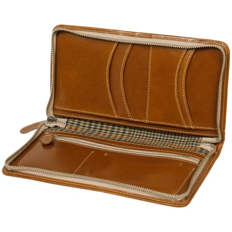Wisecracker Zip Travel Organizer Leather