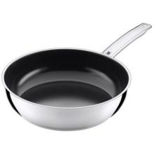 """WMF 11"""" Deep Frying Pan - Nonstick Ceramic Coating in Stainless Steel - Overstock"""