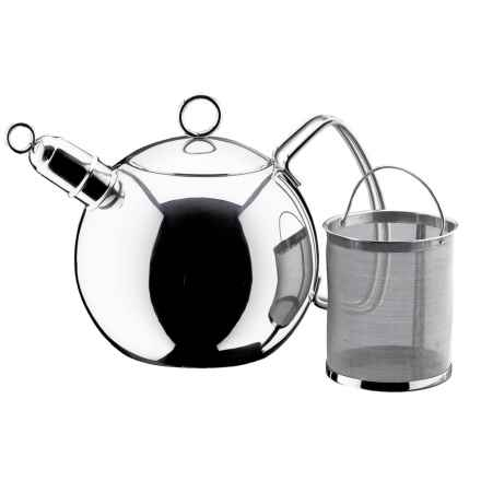 WMF Ball Tea Kettle - Removable Infuser, 1.5 qt. in Stainless - Closeouts