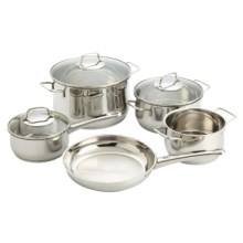 WMF Collier Stainless Steel Cookware Set - 8-Piece in Stainless Steel - Closeouts