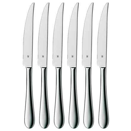 WMF Cromargan® Stainless Steel Steak Knife Set - 6-Piece in Signum - Overstock