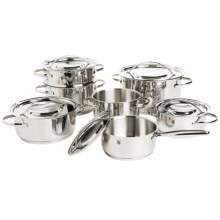 WMF Gala II Stainless Steel Cookware Set - 12-Piece in Stainless Steel - Overstock