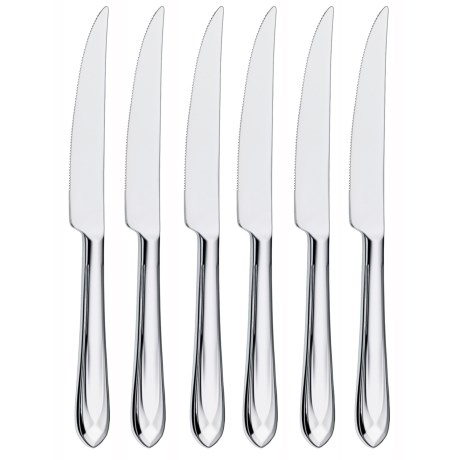WMF Juwel Steak Knives - Stainless Steel, Set of 6 in See Photo