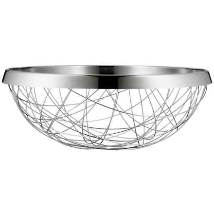 WMF Lounge Living Serving and Decor Basket - 18/10 Stainless Steel in Stainless Steel - Overstock